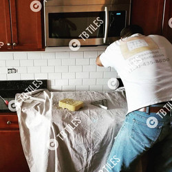 Kitchen Backsplash Work In Progress