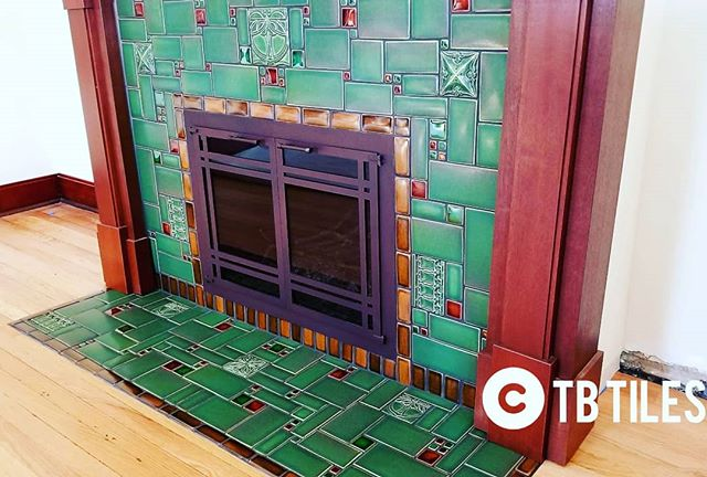 Custom Fireplace Motawi Art Tile__#motaw