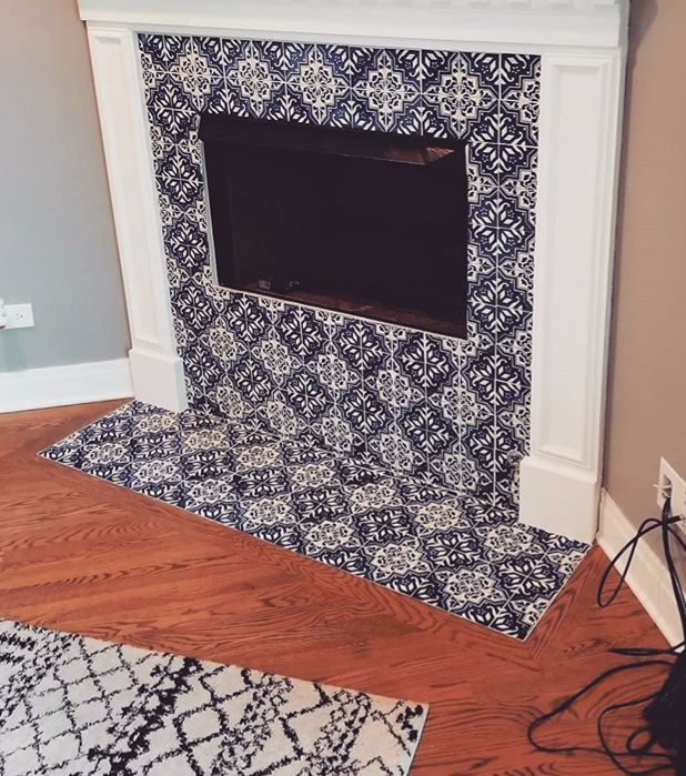 #fireplace #fireplacetile #cozyfireplace