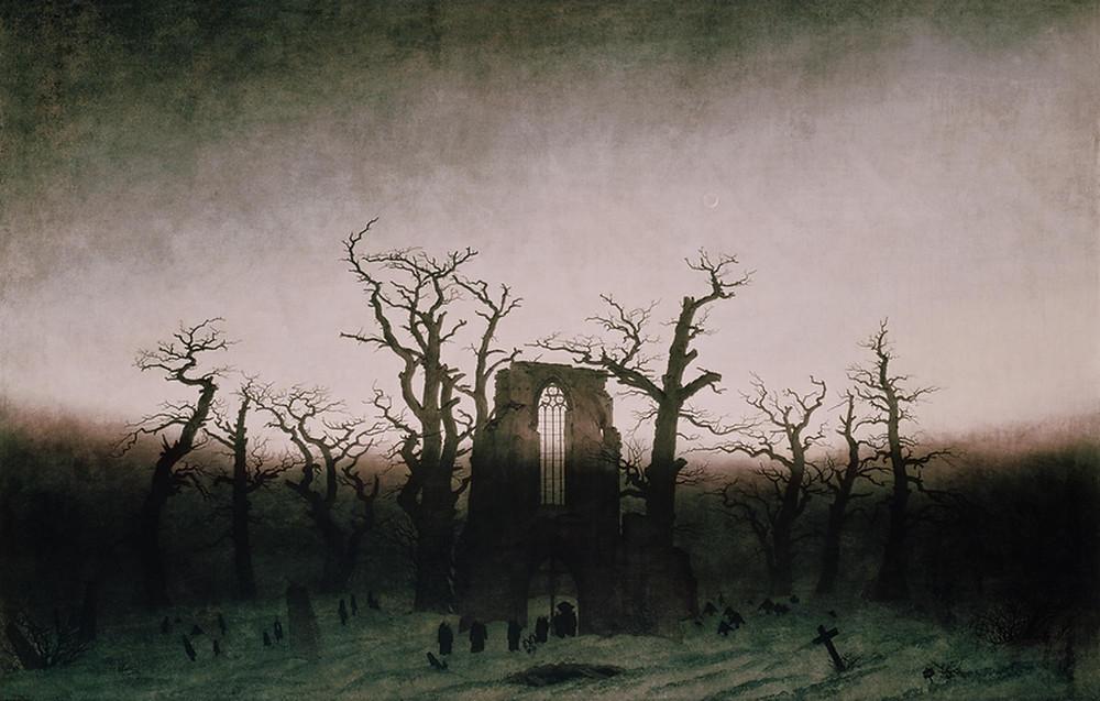 The Abbey in the Oakwood, Caspar David Friedrich