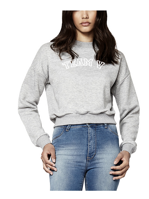 Grey Crop Sweatshirt