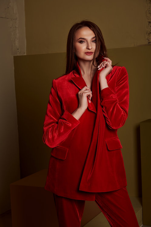 Костюм: жакет и брюки BEKAREVA RED