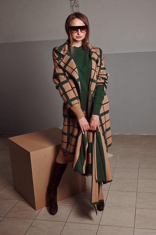 Пальто женское 100% кашемир BEKAREVA RED