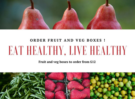 We are now taking orders for Veg and Fruit Boxes!