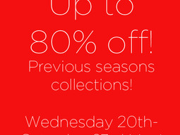 Our flash sale is back! Up to 80% off previous seasons collections!
