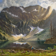 Lake 22, Oil on Panel, 30 x 40, Winner of the Children's Choice Award, Mountlake Terrace's 40th Arts of the Terrace, 2019 Collection of the Artist