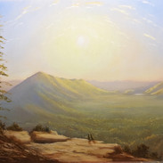 Sunrise at Rattlesnake Ledge, Oil on Panel, 9 x 12, 2018, Available