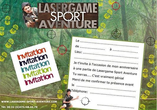 Carton d'Invitation Lasergame Anniversaire