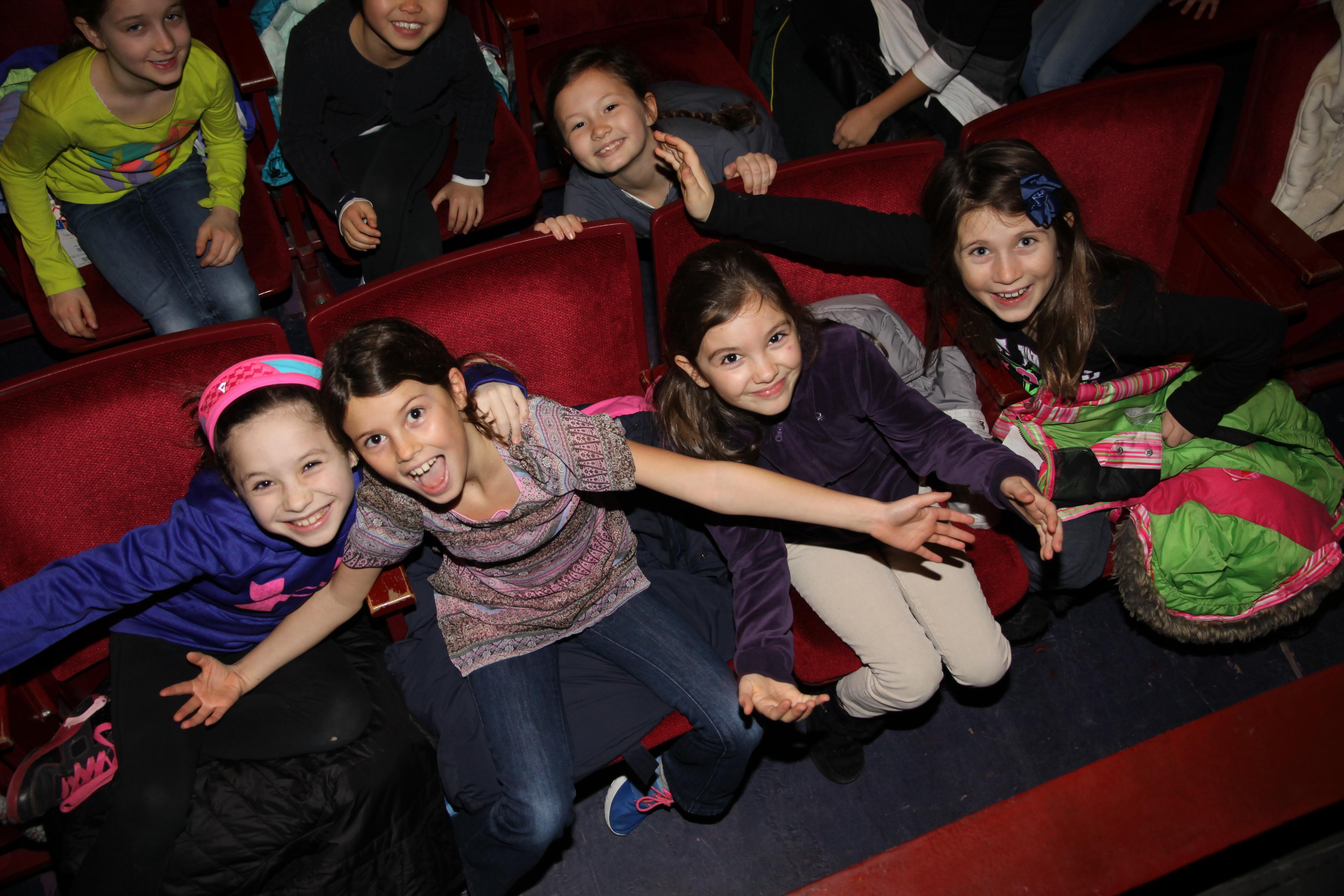 Kids in concert hall