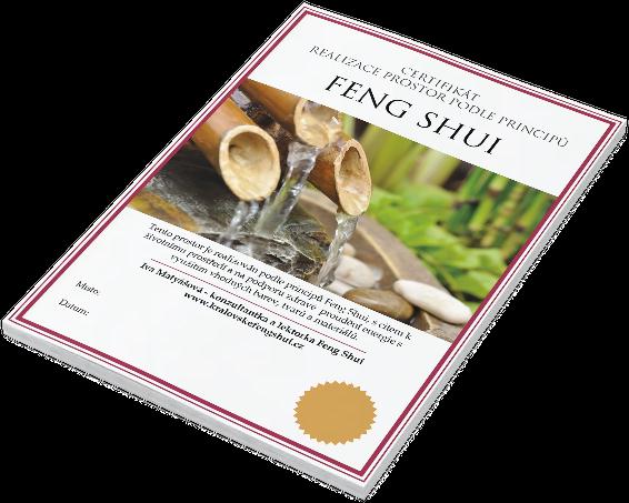 Certifikát Feng Shui
