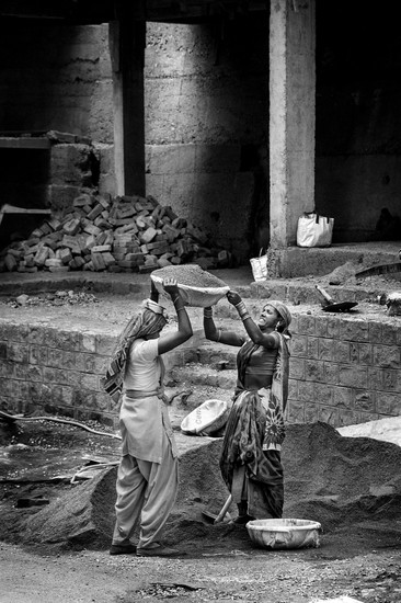 Women working. McLeod Ganj, Dharamshala, India