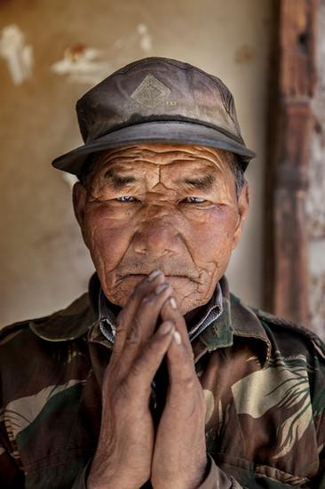 Tibetan refugee settlement in Choglamsar - Ladakh, India.