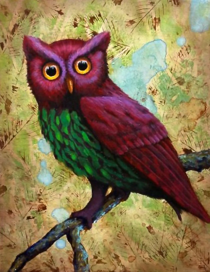 Jewel-toned Owl