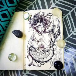Coy, princess #mermaid with pearls and diamonds ._.jpg