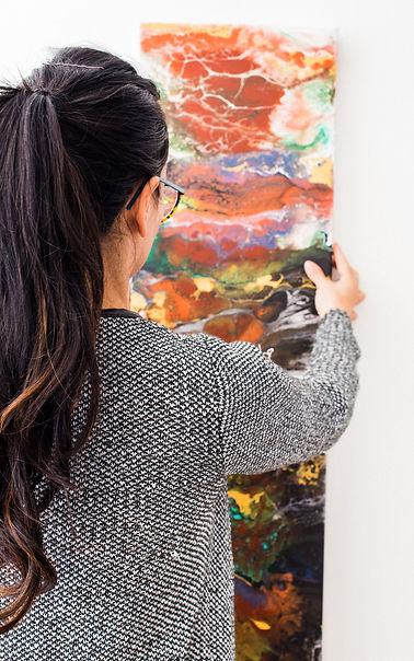 Joy Caroni French Artist and Paintr