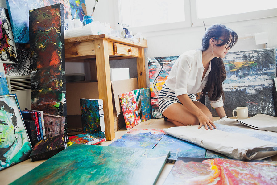 artist joy caroni in her sunning studio.jpg