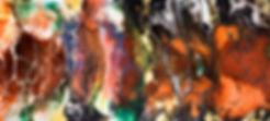 Fluid painting, acrylic pour painting, acrylic on canvas