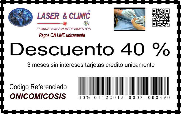 ONICOMICOSIS -40 % DESCUENTO Y MSI SIN INTERESES