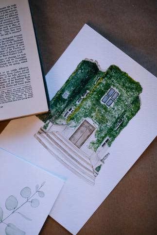 Walton Castle Clevedon wedding venue illustration