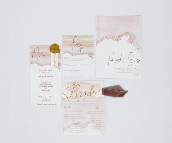 pink-wash-wedding-invite-hunter-gatherin