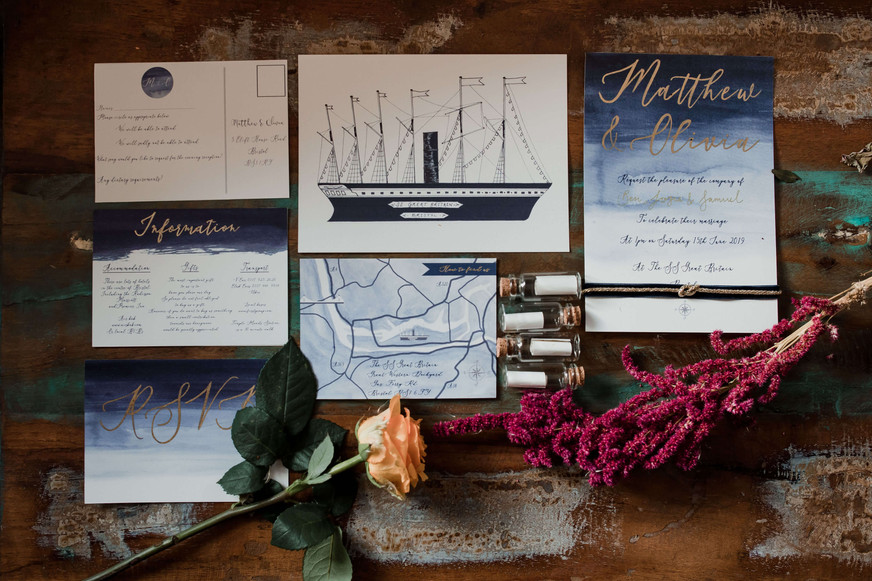 SS Great Britain wedding invitations
