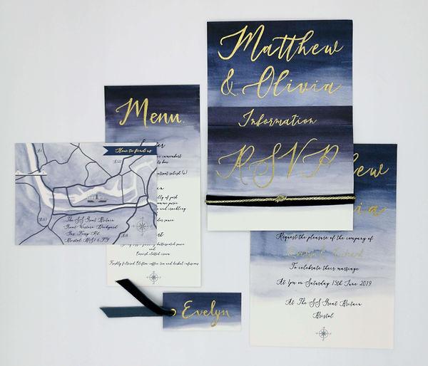 navy-wash-wedding-invite-hunter-gatherin