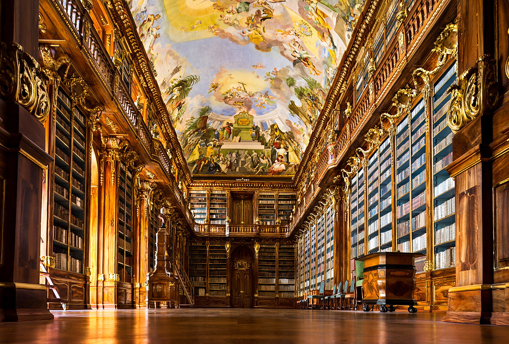 Strahov Kloster Bibliotek