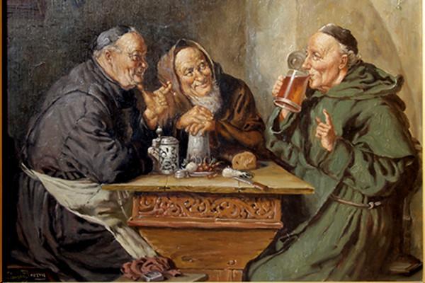 Øl munker i Praha