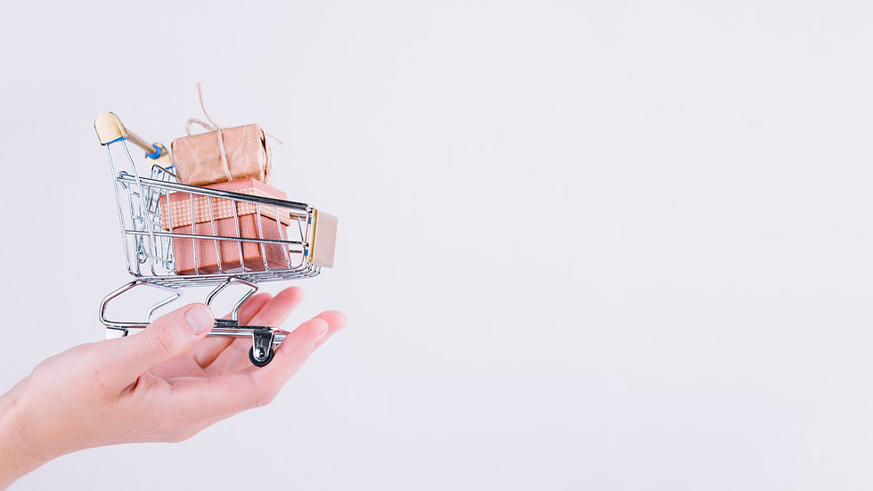 person-holding-small-grocery-cart-with-g