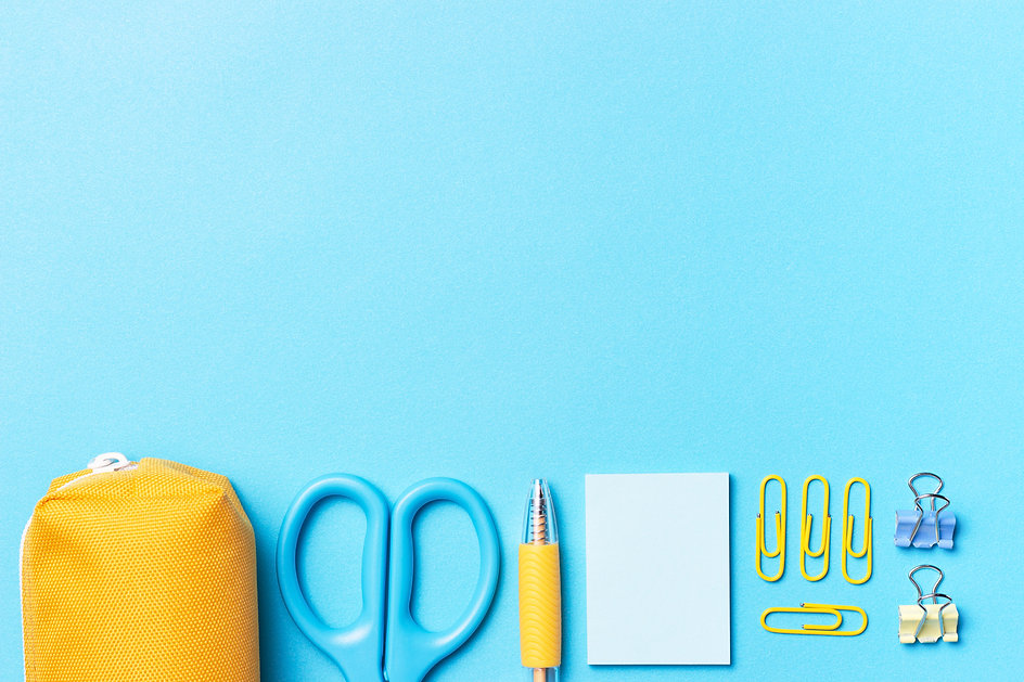 stationery-blue-background-with-copy-spa