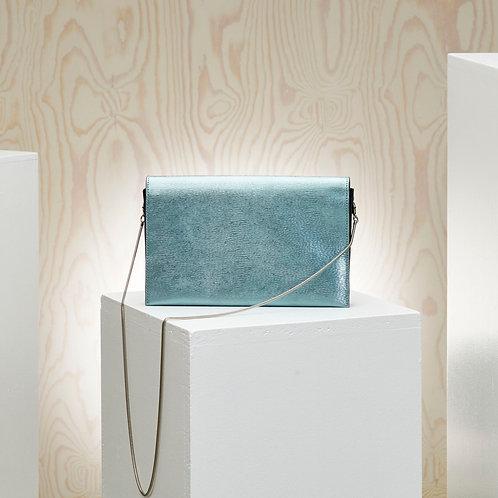 INNÉ  - leather clutch bag, col. Ocean
