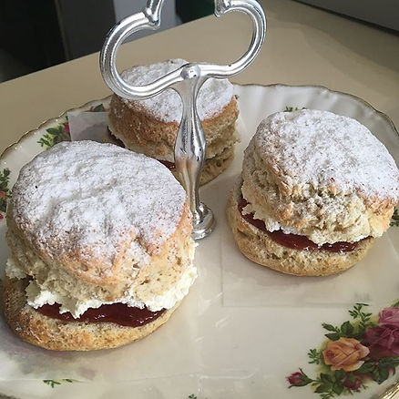 Homemade cream scones made with local Be