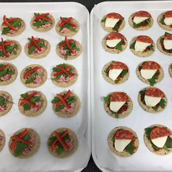 Canapés for opening today. #goodluckemma