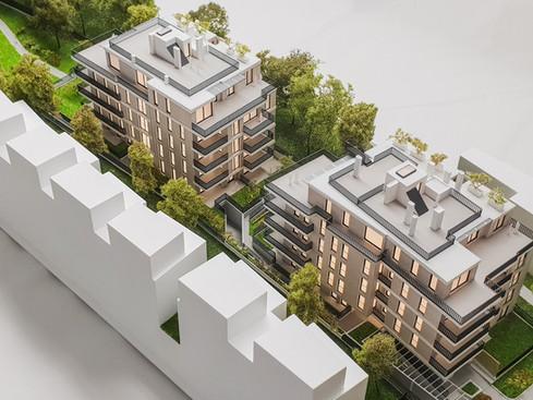 Präsentationsmodell für Zeiger Real Estate Marketing von Scala Matta Modellbau Studio