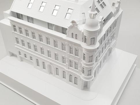 Weiß Immobilien modell, Altbau im detail M 1:75