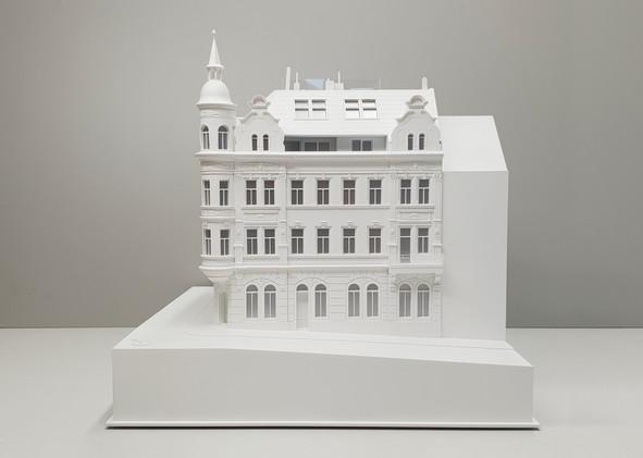 Weiß Immobilien modell, Modell Maßstab 1:75