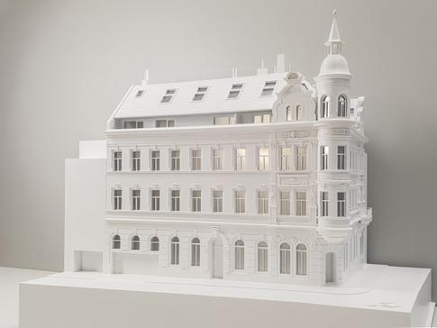 Weiß Immobilien modell, Altbau im detail