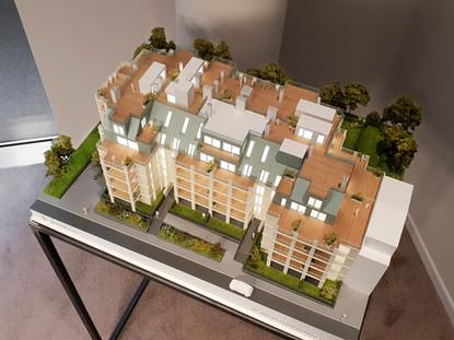 Modell im Raum Immobilien Präsentationsmodell