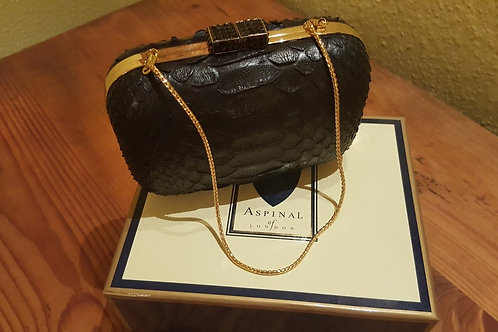 ASPINAL OF LONDON PYTHON CLUTCH S O L D   S O L D