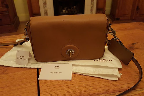 "AUTHENTIC COACH ""PENNY"" LEATHER CROSS Y BAG    S O L D"