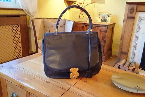 Genuine Balenciaga distressed blue suede saddle bag