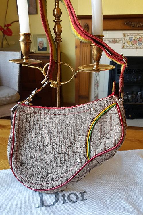 Christian Dior colourful Saddle Bag