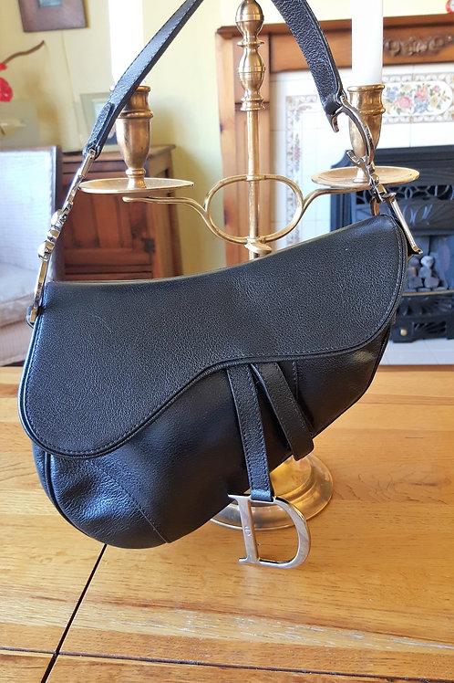 Christian Dior  SADDLE BAG BLACK. SOLD