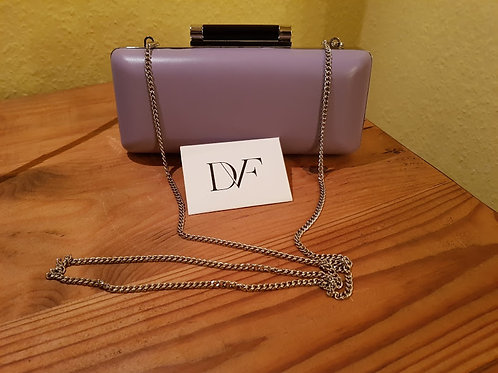 DIANA VON FURSTENBERG LEATHER AND SEQUINS  CLUTCH BAG