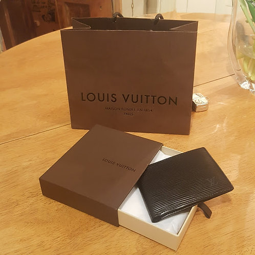 LOUIS VUITTON BLACK EPI LEATHER MEN'S WALLET  S O L D