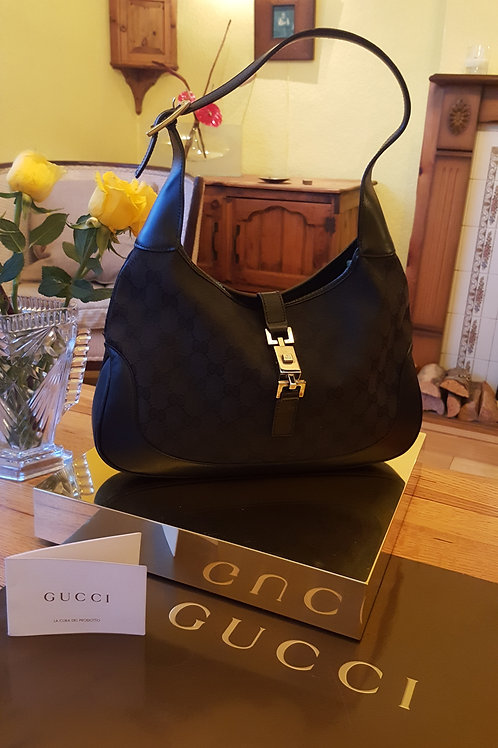 GUCCI LITTLE SHOULDERBAG WITH FRONT CLASP/BLACK