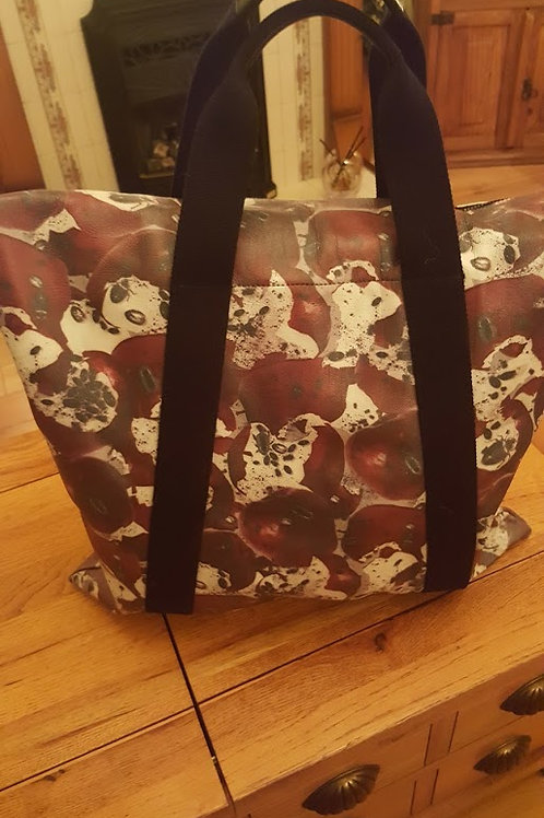 MULBERRY  LEATHER SHOPPER WITH UNUSUAL DESIGN