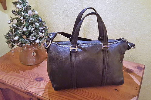 BALLY   LEATHER   BOSTON   BAG