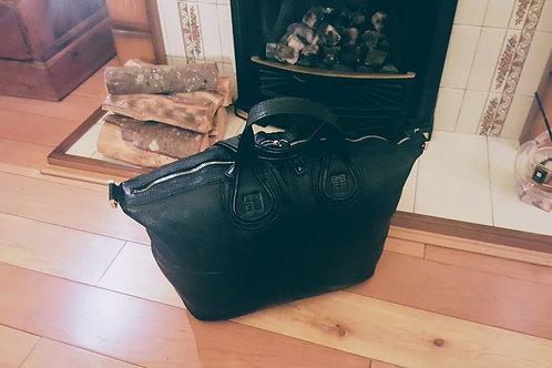AUTHENTIC  Givenchy Nightingale Satchel  Large BLACK