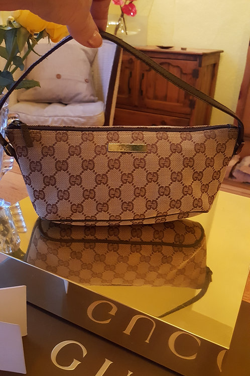 GENUINE GUCCI LITTLE BROWN PARTY BAG